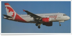 Rouge Airbus A-319-112 C-GSJB