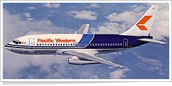 Pacific Western Airlines Boeing B.737-275 C-GLPW